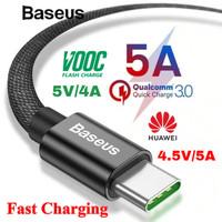 BASEUS Kabel Data Type C 5A Super Fast Charging Oppo VOOC 1 M