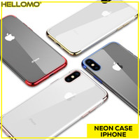 Softcase Neon Light Iphone 7 8 Plus X XS XR XS MAX Case Silicon Casing