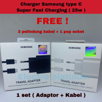 Charger Samsung Note 10 10+ S10 Fast Charging 25W ORIGINAL Type C ORI
