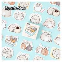 45 pcs Sticker Cute Fat Bunny Scrapbook DIY Bujo Planner Diary Stempel