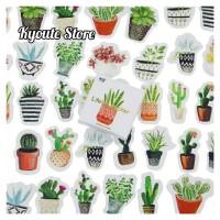 45 pcs Sticker Tanaman Kaktus Hijau Scrapbook DIY Bujo Planner Diary