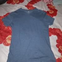 baju t shirt polos h&m biru muda slim fit ukuran m