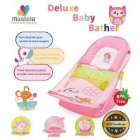 MASTELA Deluxe Baby Bather / Kursi Duduk Mandi -PINK PARK-WHALE- 07168