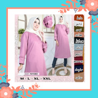 Long Tunik/ Atasan Wanita/ Fashion Muslim/ Busui / Big size/ Jumbo