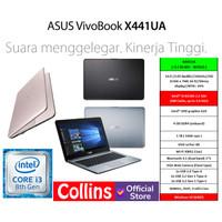 LAPTOP ASUS X441UA I3-8130U DDR4 4GB HDD 1TB DVD INTEL UHD 620 14 W10