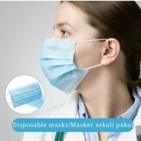 Masker 3 ply Earloop / Masker 3Ply Disposable Import