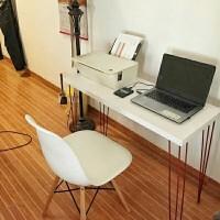 SET F Meja 100x40 dan Kursi Kantor Simpel Industrial