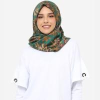 Anakara Batik Hijab Segiempat-Square Headscarf Fleur De Bambou-Tosca - Hijau, All Size