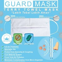 GUARD MASK Terry Towel Masker Kain Handuk 4 PLY Anti Corona Virus Debu