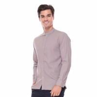 Hommes Apparel Kemeja Polos Kerah Sanghai Cream Cotton Linen Premium - M
