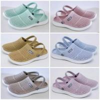 Sandal Sepatu Selop Karet Wanita sandal karet ATT MSW 562