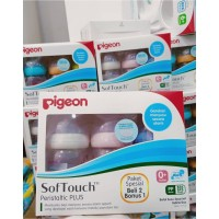 PIGEON BOTOL SUSU SOFT TOUCH WIDE NECK 160ml ISI 3 / BUY 2 GET 1 FREE