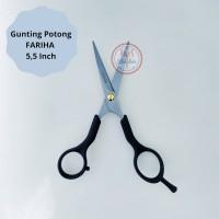Alat Potong Rambut Gunting Fariha Gagang Plastik 5,5 Inch Premium