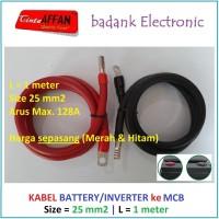 Kabel 25 mm2 Inverter / Battery ke MCB / SCC Panel Surya L = 1 meter