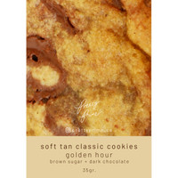 Soft Tan Classic Chocolate Chip Cookies Golden Hour 35 gr