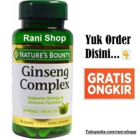 Nature's Bounty Ginseng Complex Plus Royal Jelly Natures Nature 75 cap