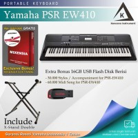 Keyboard Yamaha PSR EW410 + Stand / EW 410 / E W410 Garansi Resmi