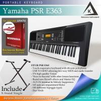 Keyboard Yamaha PSR E363 + Stand / PSRE363 / PSR-E363 Garansi Resmi