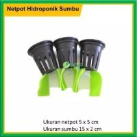 Netpot Hidroponik Sumbu Flanel Sistem Wick/DFT untuk Tanaman Sayuran