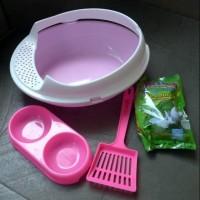 Dijual Bak Pasir Kucing/ Toilet Kucing Paket Komplit Berkualitas