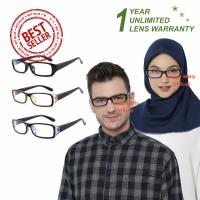 Kacamata Anti Radiasi (Design Korea) Pria dan Wanita Hijab - HM447 (