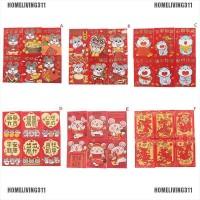 6Pcs / Set Amplop Angpao Merah Tahun Baru Imlek untuk Anak