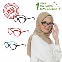 Kacamata Anti Radiasi (Design Korea) Pria dan Wanita Hijab - HM446 (