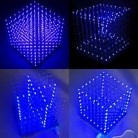 Good2764Peralatan: Set Lampu Kubus Persegi LED Sinar Biru Warna