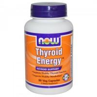 Unik Now Foods, Thyroid Energy, Thyroid Support, 90 Veggie Caps Murah