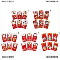 6Pcs Amplop Angpao Merah Tahun Baru Imlek