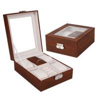 Kotak Tempat Menyimpan Perhiasan Cincin & Kalung, Bahan Kulit