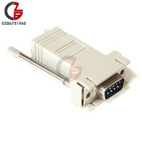 Adapter Converter DB9 RS232 Male to RJ45 Female