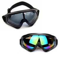 Kacamata motor cross airsoft gun - goggle safety - cross goggles hitam