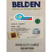 Kabel Belden / CCTV Coaxial RG59+Power 9105SL2P (PUTIH) 305M Original