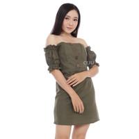 CDR268   Alessia Sabrina Dress Bodycon Gaun Mini Off Shoulder
