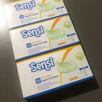 Masker Sensi Earloop 3 Ply Box 20 pcs Original