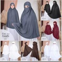 Hijab Khimar Cadar French 2 in 1 Assifa