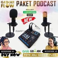 PAKET PODCAST Mic Microphone BM800 BM 800 Stand Mini Tripod Meja - Gold