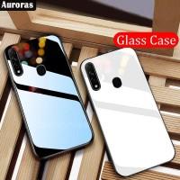 Case Oppo A31 Glass Case Hardcase - Hitam