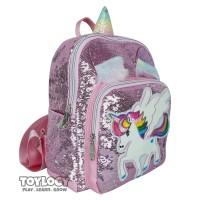 MAINAN ANAK Tas Ransel Sekolah Anak Manik Sequin Little Pony