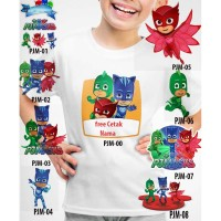 Kaos Baju tshirt anak Custom PJMASKS