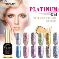 Kutek Gel Gliter Nail Polish Venalisa Colour Nail Gel polish 12 ml