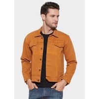 Jaket Jeans Denim Pria Model Warna Terbaru KUNING KUNYIT bestseller - S