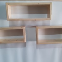 rak dinding kayu jati belanda 1 set