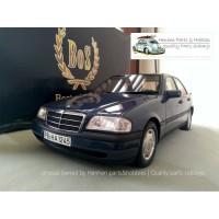 diecast BOS Mercedes Benz W202 C200 LE marine blue skala 1:18