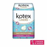 Pantyliner Kotex Liner Longer and Wider Antibacterial Isi 32pcs