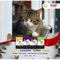 PASIR KUCING GUMPAL/ PASIR BENTONITE 25 L TOP CAT LITTER