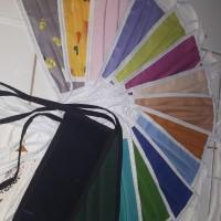 masker kain katun 1lusin 12 warna