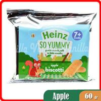 Snack Biskuit Bayi Rasa Apel HEINZ Apple Biscotti 60gr FREE PACKING