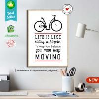 quotes bike L | hiasan | pajangan dinding | poster | kayu | Decor